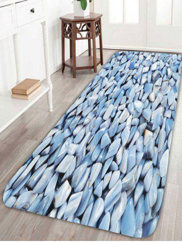 Chic Coral Fleece Skidproof 3D Stone Rug - W24 INCH * L71 INCH LIGHT BLUE Mobile