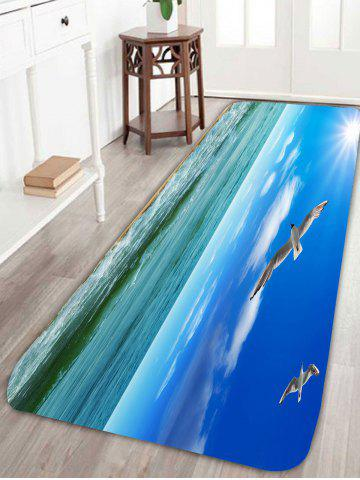Buy Bird Seascape Water Absorption Skidproof Rug - W24 INCH * L71 INCH BLUE Mobile
