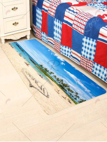 Shops Scenic Heart Beach Style Coral Fleece Skidproof Rug - W24 INCH * L71 INCH COLORFUL Mobile
