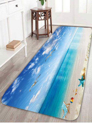 Sale Sea Gull Starfish Antiskid Bathroom Rug - W24 INCH * L71 INCH BLUE Mobile