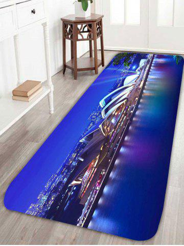 Buy Coral Fleece Skidproof Sydney Opera House Bathroom Rug - W24 INCH * L71 INCH BLUE Mobile