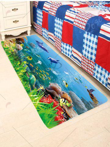Cheap Skidproof Coral Fleece Underwater Fish Bath Rug - W24 INCH * L71 INCH COLORFUL Mobile