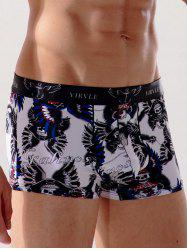 Quick Dry Skull Printed Swimming Trunks