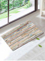 Vintage Antiskid Wood Pattern Bath Rug