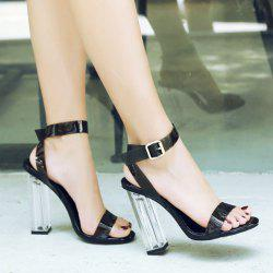 Ankle Strap Clearn Heel Sandals