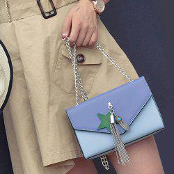 Tassel Color Block Cross Body Bag