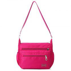 Side Pockets Nylon Cross Body Bag