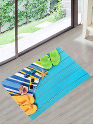Beach Style Slippers Sunglasses Starfish Skidproof Bath Rug