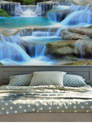 3D Print Magic Landscape Waterfall Wall Hang Tapestry - Multicolore