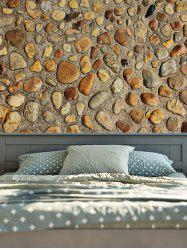Vintage 3D Stone Wall Printed Tapestry - YELLOW