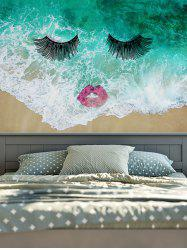 Wall Hangings Lip Eyelash Sea Wave Print Tapestry