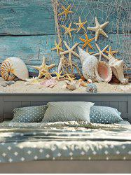 Starfish 3D Imprimé Rectangle Tapisserie Wall Hanging - Bleu Vert