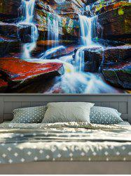 Rectangle Wall Hangings 3D Waterfall Print Tapestry - Multicolore