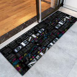 Letters Pattern Indoor Outdoor Water Absorption Area Rug