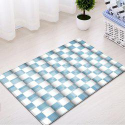 Plaid Pattern Indoor Outdoor Water Absorption Area Rug -