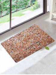 Retro Skidproof Coral Fleece Brick Pattern Bath Rug