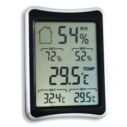 Temperature Humidity Digital Display Thermometer Hygrometer - BLACK