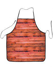 Cooking Supplies Woodgrain Waterproof Fabric Apron