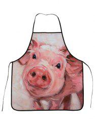 Cooking Waterproof Oilproof Funny Pig Apron - PINK