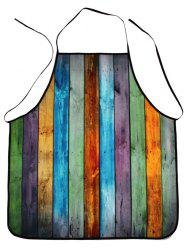 Water Resistant Colorful Woodgrain Fabric Apron - COLORMIX