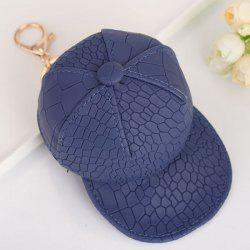 Snake Printed Baseball Hat Coin Purse Key Chain - CADETBLUE
