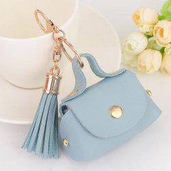 PU Leather Coin Purse Tassel Key Chain