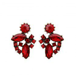 Faux Ruby Vintage Earrings