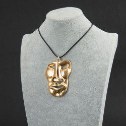 Tribal Face Mask Statement Pendant Necklace
