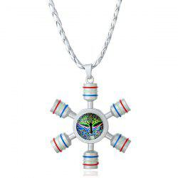 Tree of Life Fidget Spinner Decoration Necklace