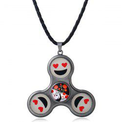 Smile Fidget Spinner Decoration Pendant Necklace