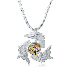 Tree of Life Dolphin Fidget Spinner Decoration Necklace
