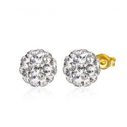 Rhinestoned Ball Tiny Stud Earrings