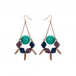 Resin Ball Geometric Vintage Hook Earrings
