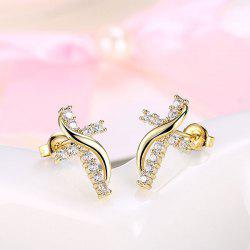 Rhinestone Crucifix Stud Tiny Earrings