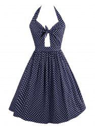 Vintage Cut Out Polka Dot Dress