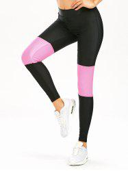 Color Block High Waist Workout Leggings