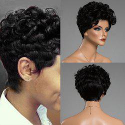 Short Shaggy Layered Curly Human Hair