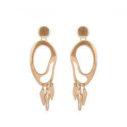Gold Alloy Drop Statement Earrings