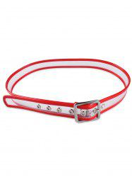 Pin Buckle Candy Color Brim Transparent Belt - RED