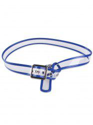 Pin Buckle Candy Color Brim Transparent Belt