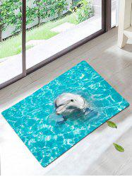 Dolphin Coral Fleece Antiskid Bath Rug