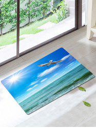 Bird Seascape Water Absorption Skidproof Rug