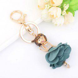 Rhinestoned Bow Fairy Key Chain - Bleu clair