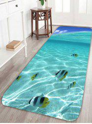 Coral Fleece 3D Fish Underwater Bath Rug