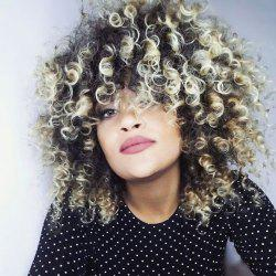 Medium Colormix Shaggy Afro Curly Synthetic Wig