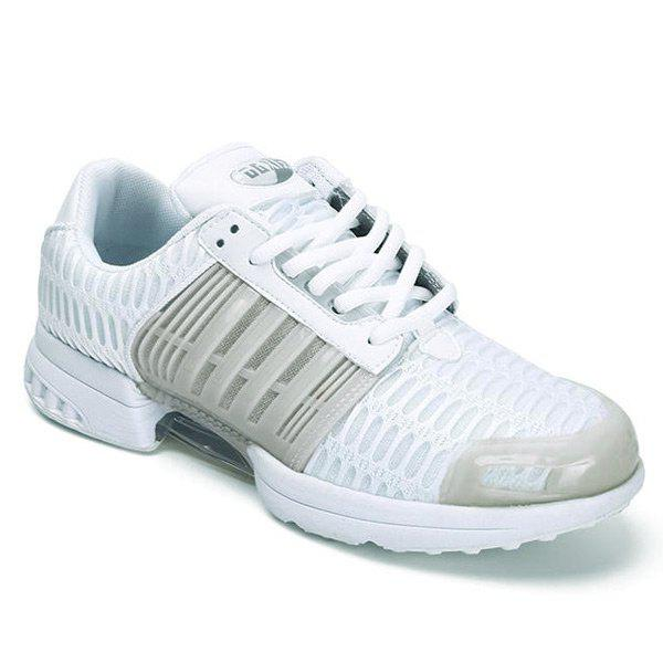 New Breathable Mesh Faux Leather Insert Athletic Shoes