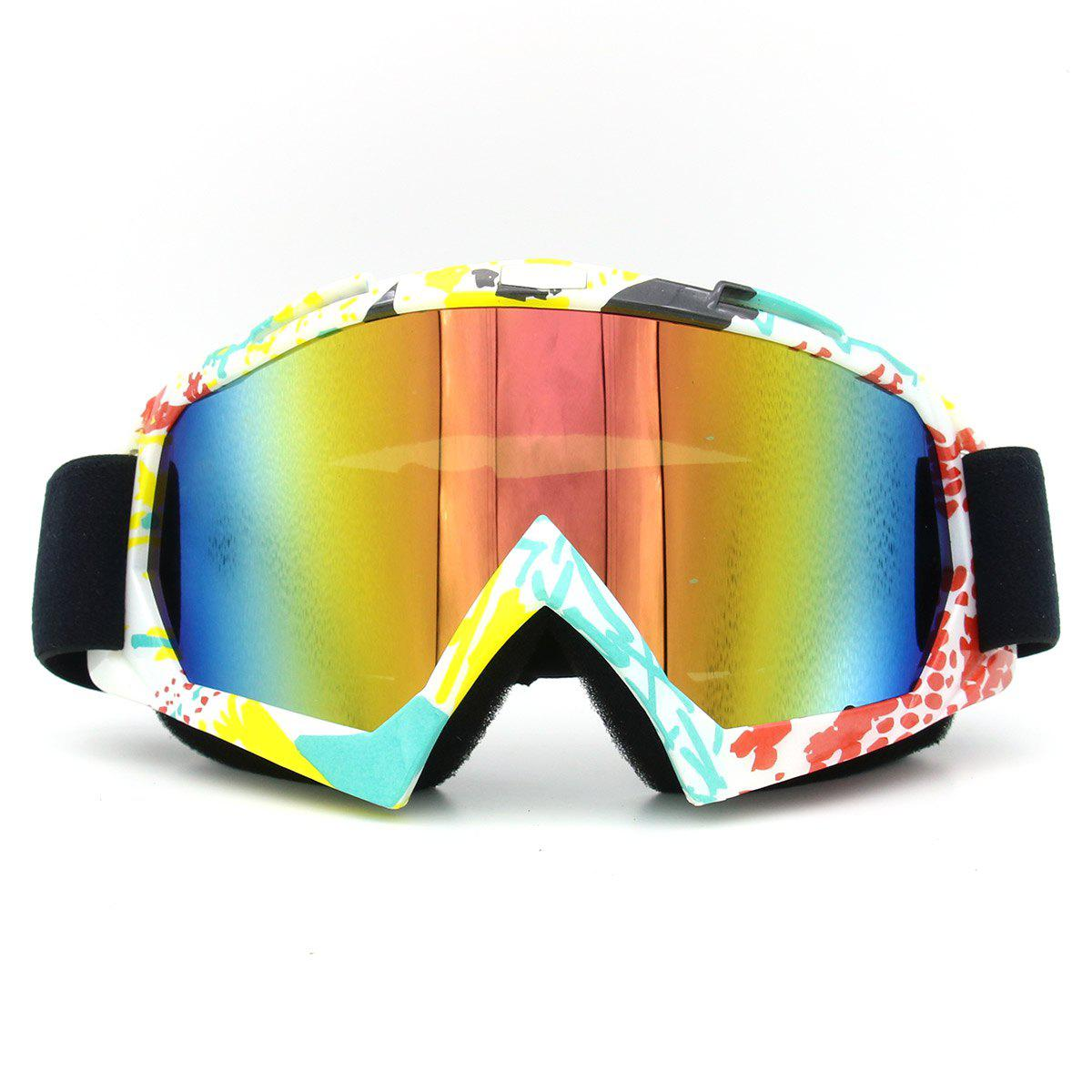 Dustproof UV Protection Off Road Riding GogglesHOME<br><br>Color: COFFEE AND YELLOW; Gender: Unisex; Type: Cycling Glasses; Style: Fashion; Feature: Anti-UV,Durable,Dustproof,Windproof; Pattern Type: Others; Material: Plastic; Weight: 0.2880kg; Package Contents: 1 x Goggles;