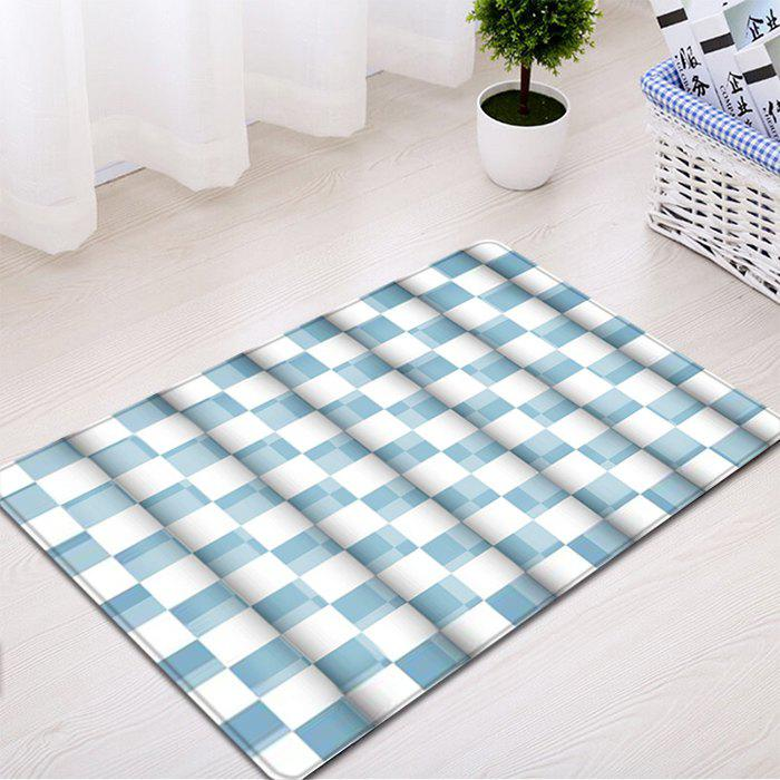 New Plaid Pattern Indoor Outdoor Water Absorption Area Rug