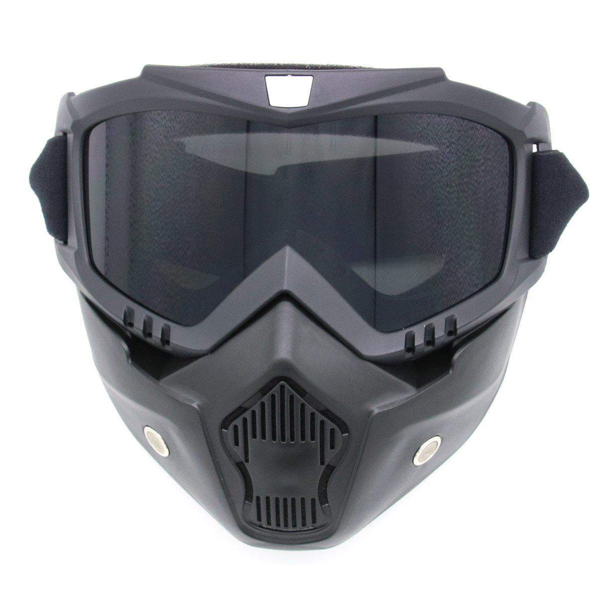 Off Road Detachable Breathable Motorcycle GogglesHOME<br><br>Color: GRAY; Gender: Unisex; Type: Cycling Glasses; Style: Fashion; Feature: Breathable,Durable,Dustproof,Windproof; Pattern Type: Others; Material: Plastic; Weight: 1.0400kg; Package Contents: 1 x Goggles;