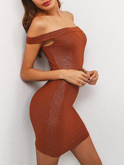 Cheap Off The Shoulder Mini Tight Bodycon Dress